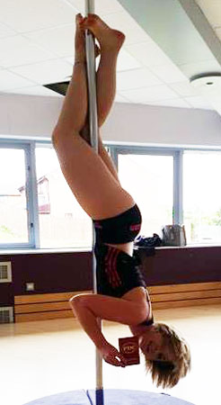 Polelatis Graded pole dance student Helen