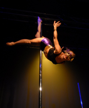 Alice Milner pole fitness picture
