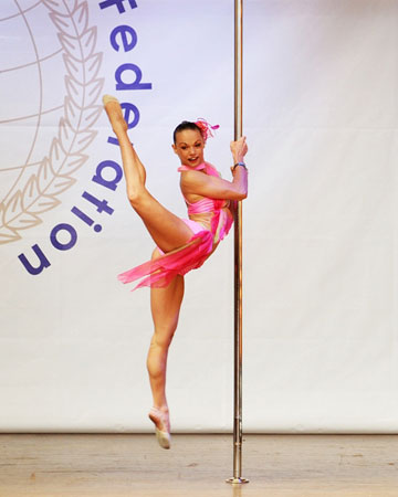 Alisa pleskova pole dancing competition