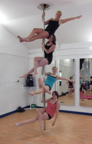Emily's Pole Fitness Pole Dancing Students