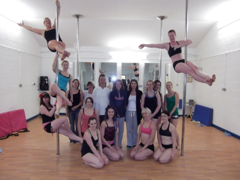 Emily's Pole Fitness Pole Dancing Students group