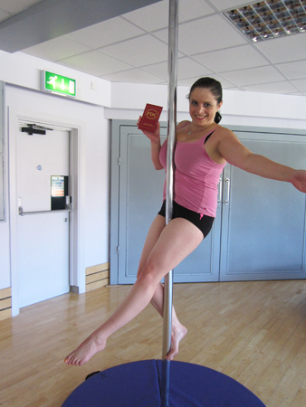 Emily Pye Davis pole dancing exam