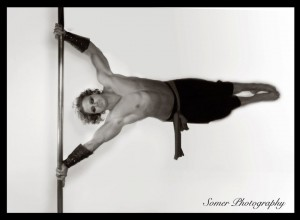 Nic Judd pole dancing picture