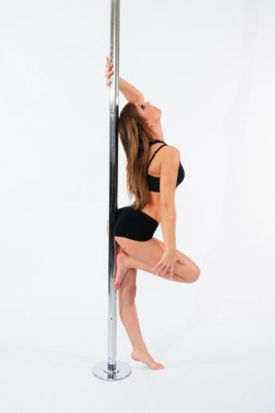 Tiny pole dancer