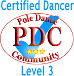 level 3 pole dancer logo