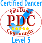 logo for level 5 pole dancers