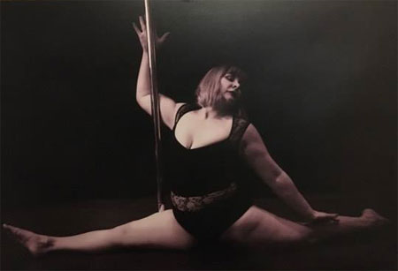 Curvy Pole Dancer Pole krazee