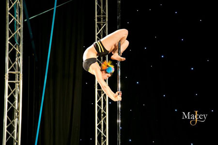 Emily Draper PDC Pole Dancing Performer