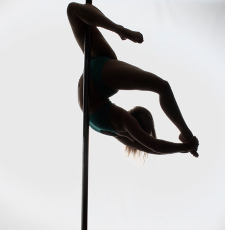 Emily Draper PDC Pole Dancing Silhouette