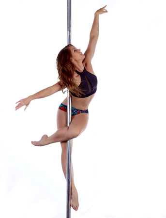 Justine mclucas pole dancing instructor