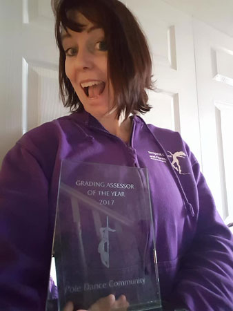 Mandy Williams Pole Dance Grading Assesor Award