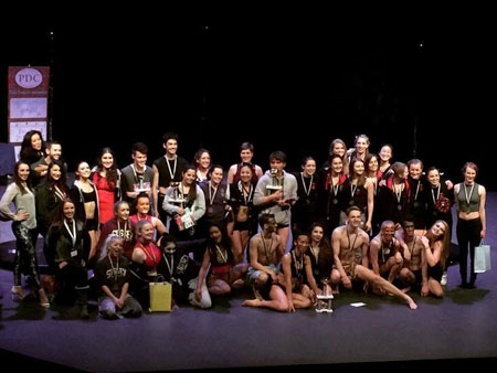 Midlands Inter University Pole Dance Competition winners