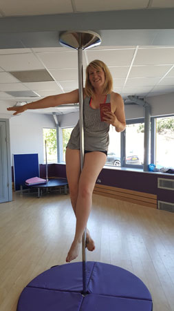 Polelatis Pole dance grading Claire Jones