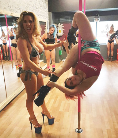 Suzanne Robson Tiff Finney Pole Dancing Instructors