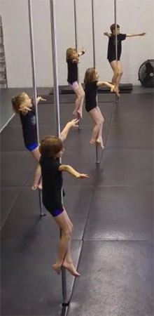 Youth Pole Dance Exam