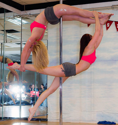 Alex Copley Pole Dance Performers