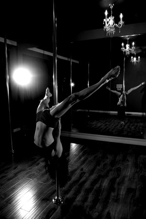 Black Velvet Pole Dance Teacher