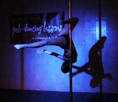 Edinburgh Pole Championships Pole dancer