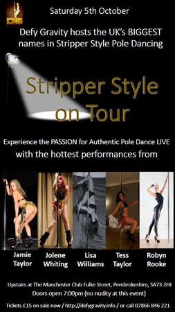 Stripper Style Pole-Dancing event