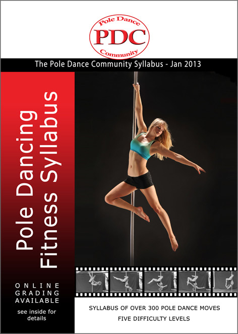 front cover of the new pole dance syllabus book