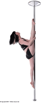picture of girl on X-Pole XPert